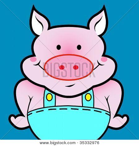 Pig cartoon avatar