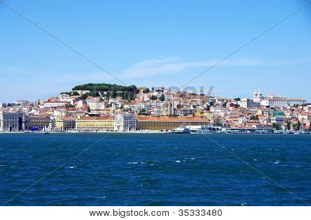 Lisbon, Portugal (view From Tagus River)