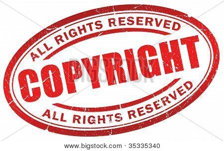 Copyright grunge symbol