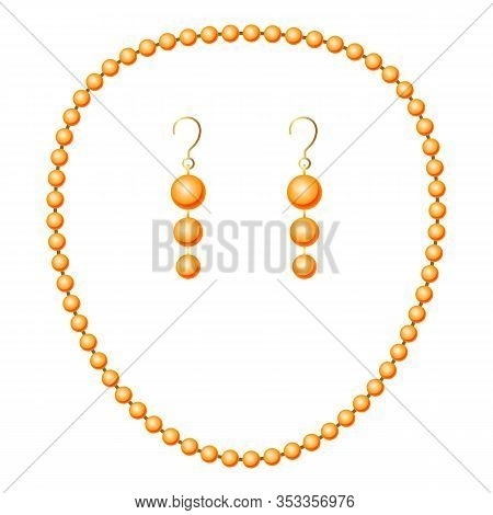 Pearl Jewelry Icon. Cartoon Of Pearl Jewelry Vector Icon For Web Design Isolated On White Background