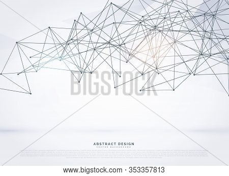 Wireframe Poligonal Abstract Mesh Vector Background Design Illustration