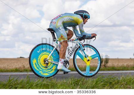 The Kazak Cyclist Vinokourov Alexandr