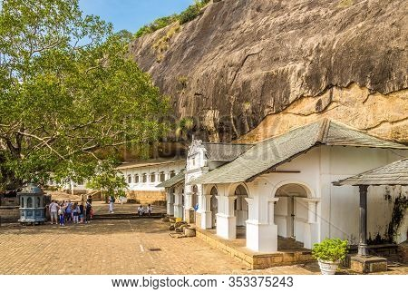 Dambulla,sri Lanka - February 5,2020 - View At The Dambulla Cave Complex. Dambulla Caves Is The Larg