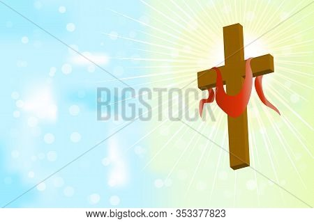 Good Friday. Good Friday And Easter Day Vector Illustration For Christian Religious Occasion With Re