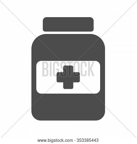 Medical Potion Vector Icon Isolated On White Background. Medical Potion Flat Icon For Web, Mobile An