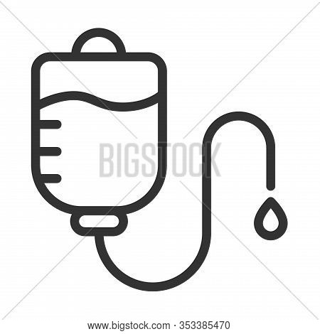 Medical Drop Counter Outline Vector Icon Isolated On White Background. Drop Counter Flat Icon For We