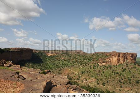 View of Dogonland, Mali, West Africa