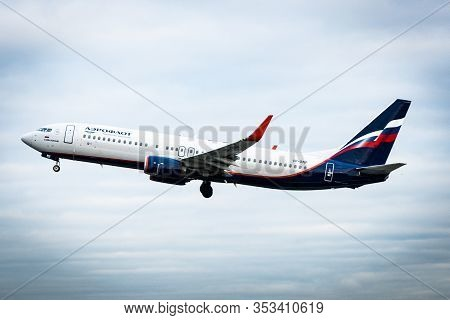October 29, 2019, Moscow, Russia. Plane  Boeing 737-800 Aeroflot - Russian Airlines At Sheremetyevo