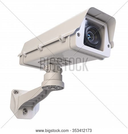 Big Traffic Camera Isolated On White Background 3d