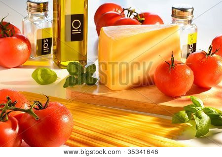 Spaghetti And Tomatoes Still-life