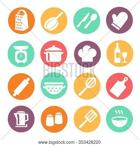 Cooking Icon Set Vector Photo Free Trial Bigstock