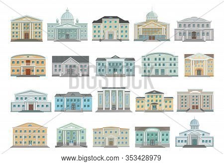 Building Of Government Vector Cartoon Set Icon. Isolated Cartoon Set Icon Architecture. Vector Illus