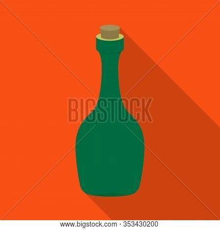 Isolated Object Of Rum And Bottle Icon. Web Element Of Rum And Stopper Vector Icon For Stock.