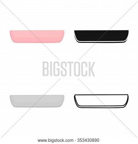 Isolated Object Of Cutlet And Sausage Sign. Web Element Of Cutlet And Product Vector Icon For Stock.