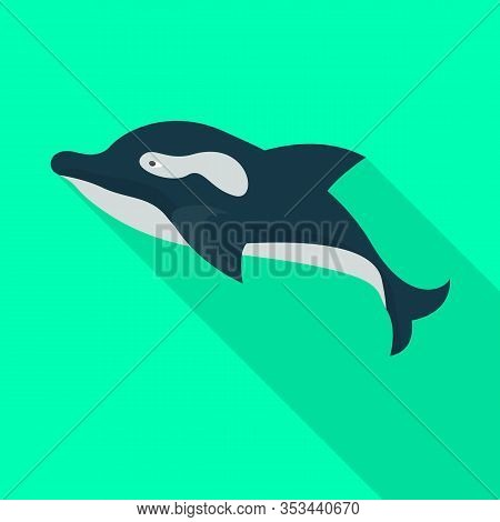 Whale Orca Vector Icon.flat Vector Icon Isolated On White Background Whale Orca.