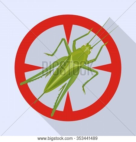 Grasshopper Vector Icon.flat Vector Icon Isolated On White Background Grasshopper.