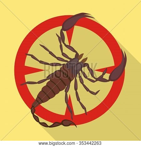 Scorpion Vector Icon.flat Vector Icon Isolated On White Background Scorpion.