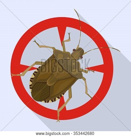 Bug Stink Vector Icon.flat Vector Icon Isolated On White Background Bug Stink.