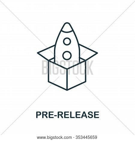 Pre-release Icon From Crowdfunding Collection. Simple Line Pre-release Icon For Templates, Web Desig