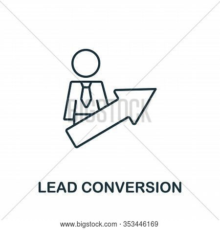 Lead Conversion Icon From Digital Marketing Collection. Simple Line Element Lead Conversion Symbol F