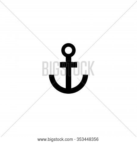 Anchor Icon Isolated On White Background. Anchor Icon Simple Sign. Anchor Icon Trendy And Modern Sym