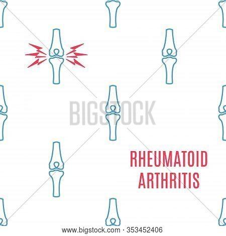 Rheumatoid Arthritis Awareness Poster With A Knee Icon Pattern