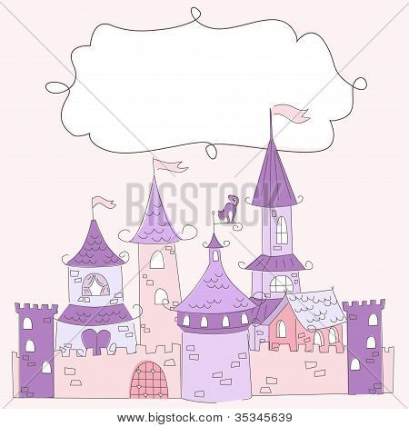 Princess castle and place for text