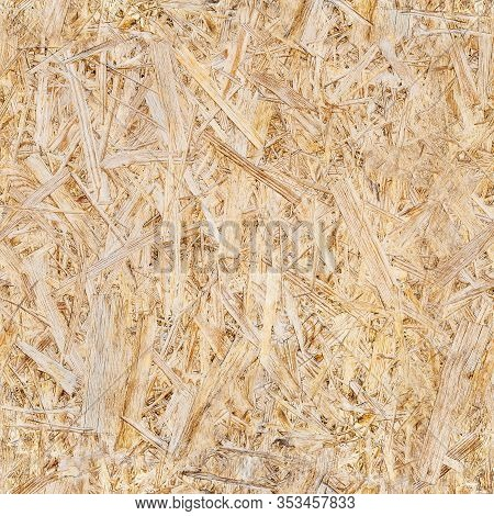 Wooden Background From Osb Plate Close-up. Seamless Pattern