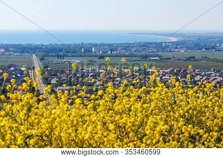 Anapa, Russia: Scenic Landscape Of Anapa Resort From Observation Platform On Hill In Supsekh. Sunny