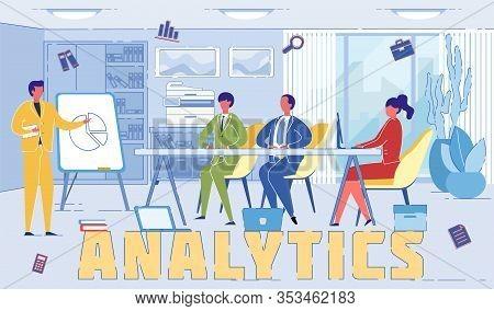 Economy Analytics Experts Word Concept Banner. Economist Presenting Market Segmentation Report. Top