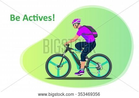 Sport. Athlete Cyclists. Professional Road Bicycle Racer In Action