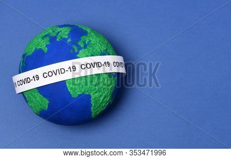 Conceptual image of  global diffusion COVID-19