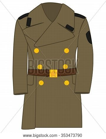 Form Overcoat To Military Soviet Army Drawing