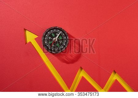 compass and graph growing up , business and economic.