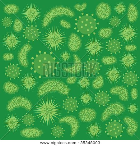 Abstract Image Of Viruses.