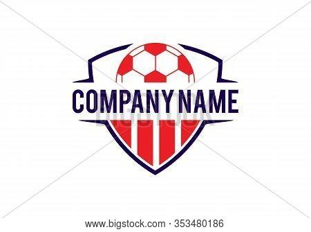 Soccer Football And Shield Logo Designs, Soccer Emblem Logo Template Vector Illustration