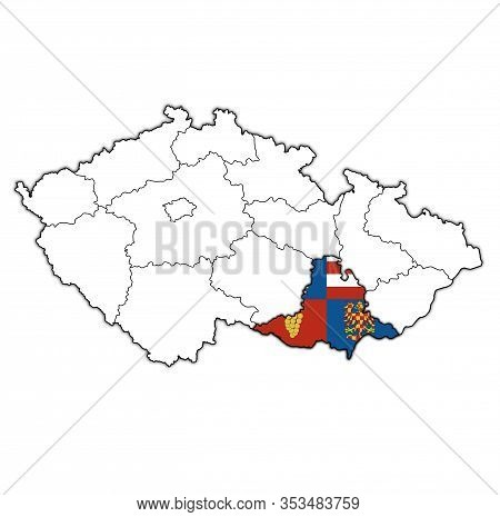 South Moravian Region On Administration Map Of Czech Republic