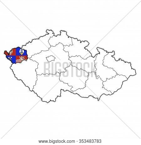 Karlovy Vary Region On Administration Map Of Czech Republic
