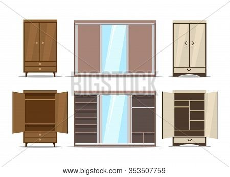 Wardrobe And Closet Set. Wooden Cupboards, Wall Wardrobes And Home Closets For Lifestyle Clothes Org