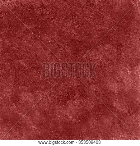 Square Dark Red Abstract Watercolor Textured Background.