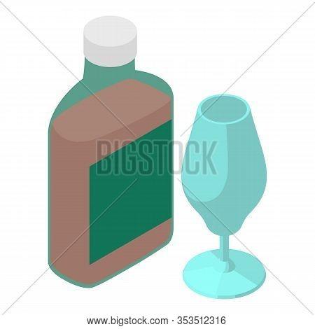 Whiskey Icon. Isometric Illustration Of Whiskey Vector Icon For Web