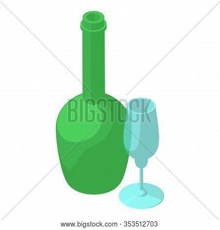 Wine Tasting Icon. Isometric Illustration Of Wine Tasting Vector Icon For Web
