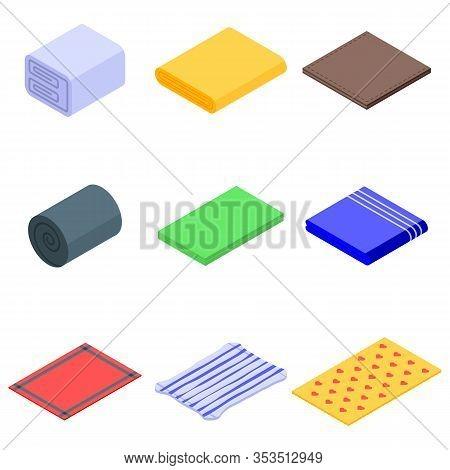 Blanket Icons Set. Isometric Set Of Blanket Vector Icons For Web Design Isolated On White Background