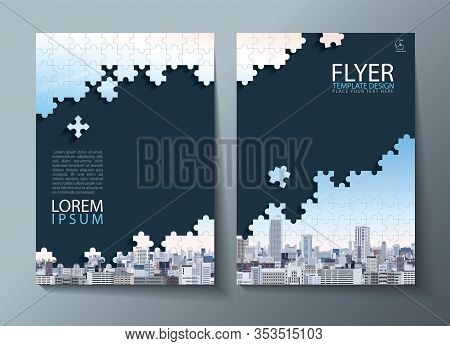 Annual Report Brochure, Flyer Design, Leaflet Cover Presentation Abstract Flat Background, Book Cove