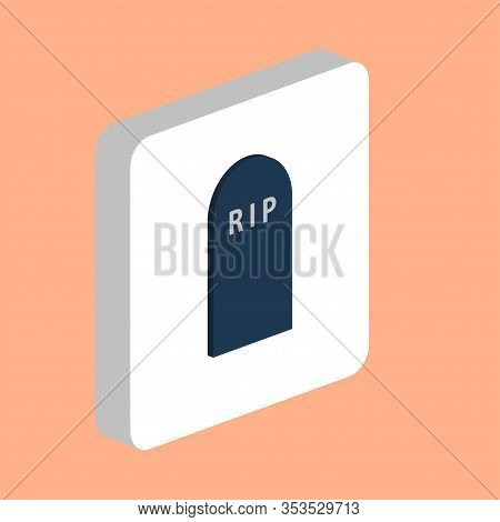 Grave, Gravestone Simple Vector Icon. Illustration Symbol Design Template For Web Mobile Ui Element.