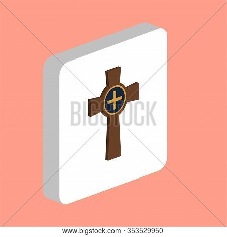 Tombstone Cross Simple Vector Icon. Illustration Symbol Design Template For Web Mobile Ui Element. P