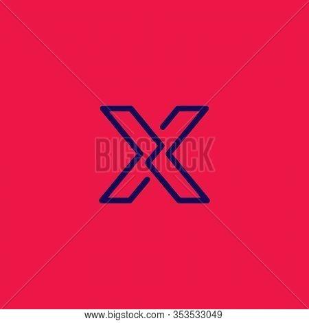X Logo. X Initials Logo. Letter X Logo Design.
