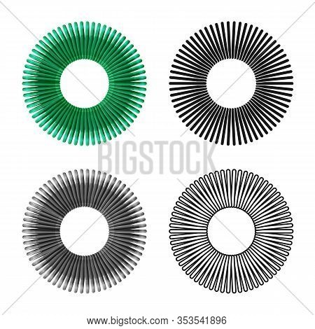 Vector Illustration Of Coil And Plastic Symbol. Graphic Of Coil And Spiral Vector Icon For Stock.