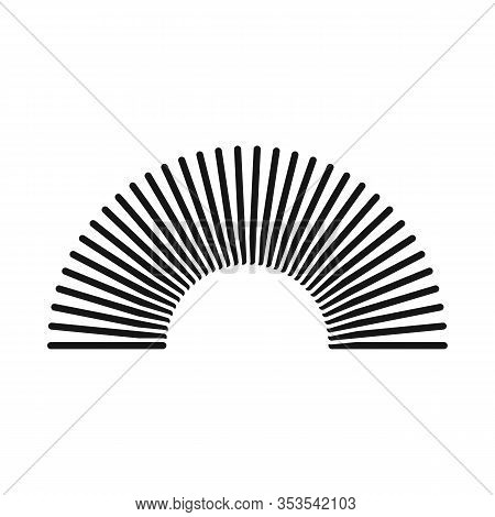 Isolated Object Of Coil And Plastic Sign. Graphic Of Coil And Spiral Stock Vector Illustration.