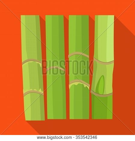Isolated Object Of Stem And Sugar Icon. Web Element Of Stem And Cane Stock Vector Illustration.